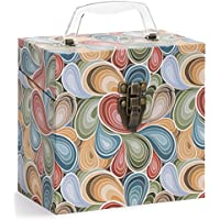 TUNES-TOTE PAISLEY PARTS 45 RPM 7 VINYL RECORD STORAGE - PROTECTIVE 7 VINYL CARRY BOX