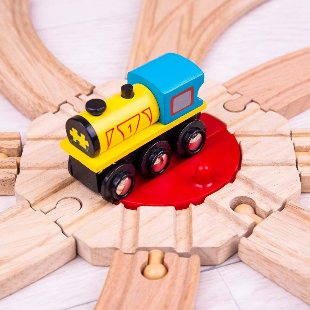 Bigjigs Rail Industrial Turntable for Train Set