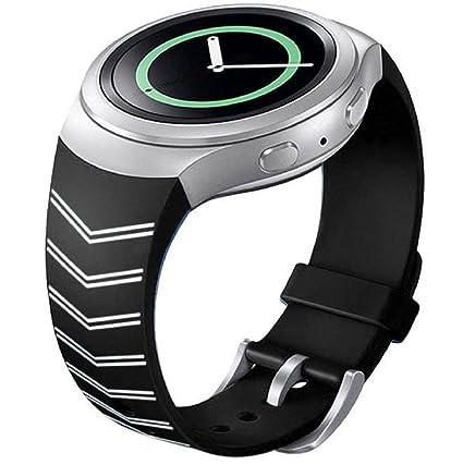 Samsung Galaxy Gear S2 SM-R720 correas para reloj, Sannysis correas de Silicona para