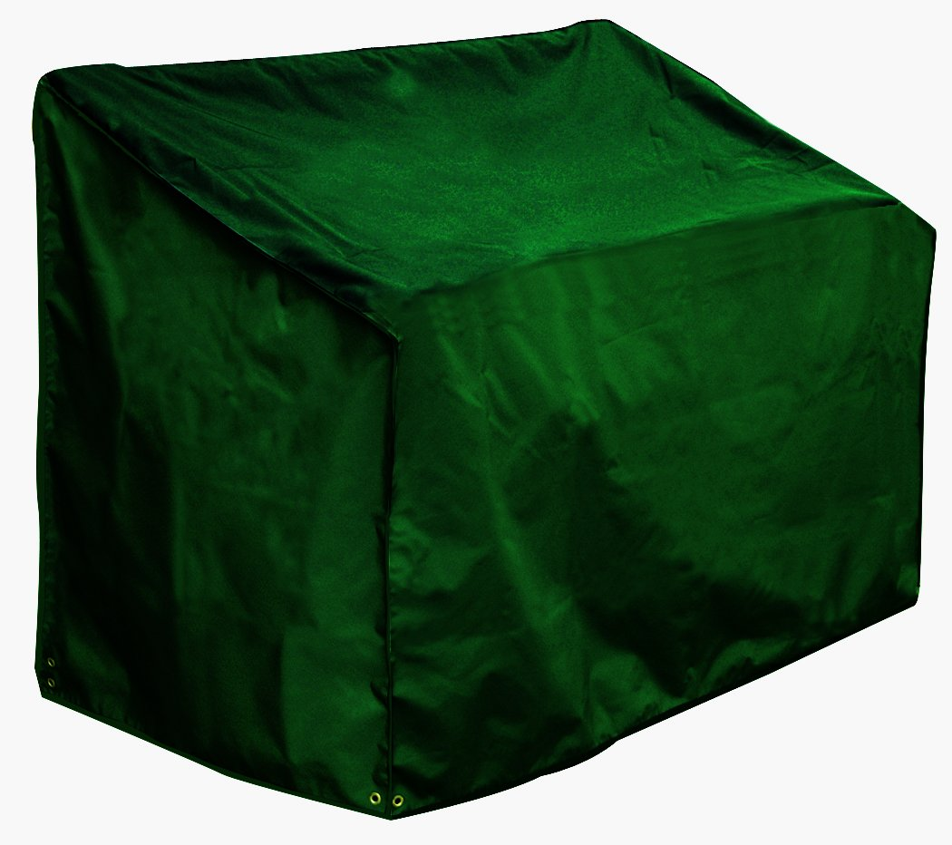 Bosmere 2-Seat Bench Cover, 53 Long x 26 Deep x 35 High Back x 25 Front, Green C605