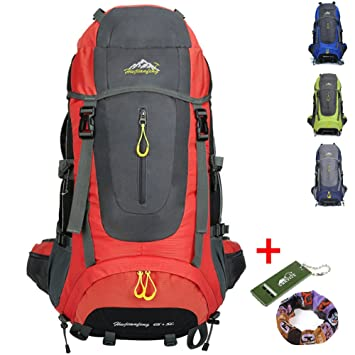 onyorhan 70L Viaje Mochila Trekking Senderismo Excursionismo Alpinismo Escalada Camping para Hombre Mujer (Rojo): Amazon.es: Deportes y aire libre