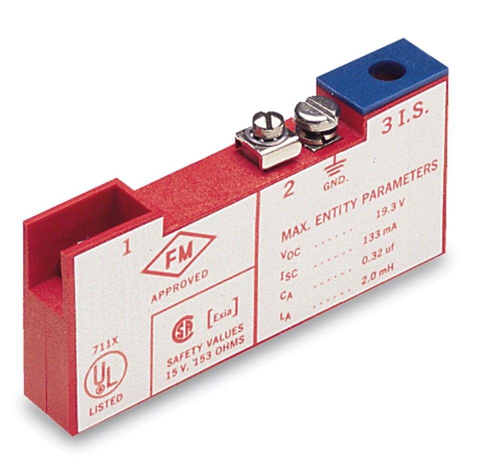 Gems Sensors 114166 Single Channel Zener Barrier, 33.9 ohms Resistance, +30 VDC Voltage, 250 mA Current