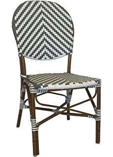 Great Table In A Bag CBCGGWW All Weather Wicker French Café Bistro Chair With  Aluminum Frame