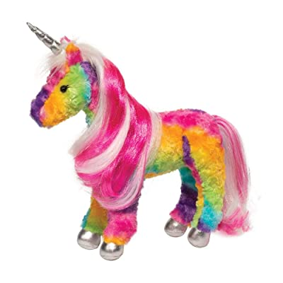 Douglas Joy Rainbow Princess Unicorn Plush Stuffed Animal: Toys & Games