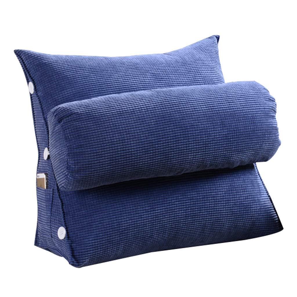 Unbekannt Dreieckauflage Rückenlehnenauflage Samtkissen Schlafsofa Bürostuhlruhe Kissen (Farbe : Dark Blue, größe : L)