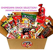 "Japanese Snack Assortment 28pcs of 23 types Full of ""DAGASHI"", ""OHIMESAMA Snack Selection"" (S)"