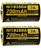 NEW 2x Nitecore IMR 18350 NI18350A 700mAh 7A 3.7V Rechargeable Battery