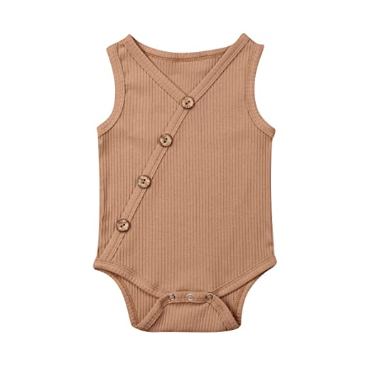 43f58204d7a11 Newborn Infant Baby Girl Boy Sleeveless Knitted Bodysuit Jumpsuit One-Piece  Romper Summer Outfit Clothes