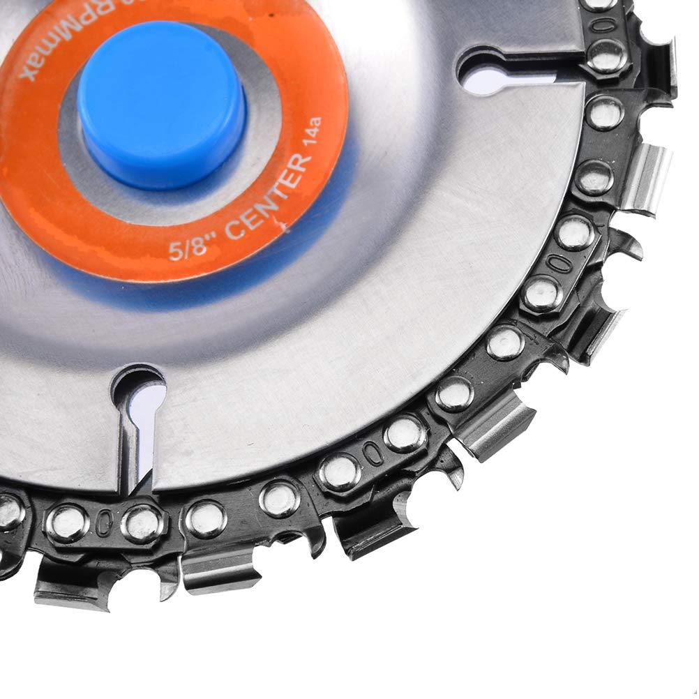Disco de talla de madera disco de cadena de amoladora de 4 pulgadas Disco de cadena de talla de madera de corte de abrasivo de 22 dientes Hoja de sierra doble Dientes antir