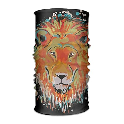 HEHE TAN Unisex Kerchief Lion Face Multifunctional Bandanas Sweatband Elastic Turban Headwear Headscarf