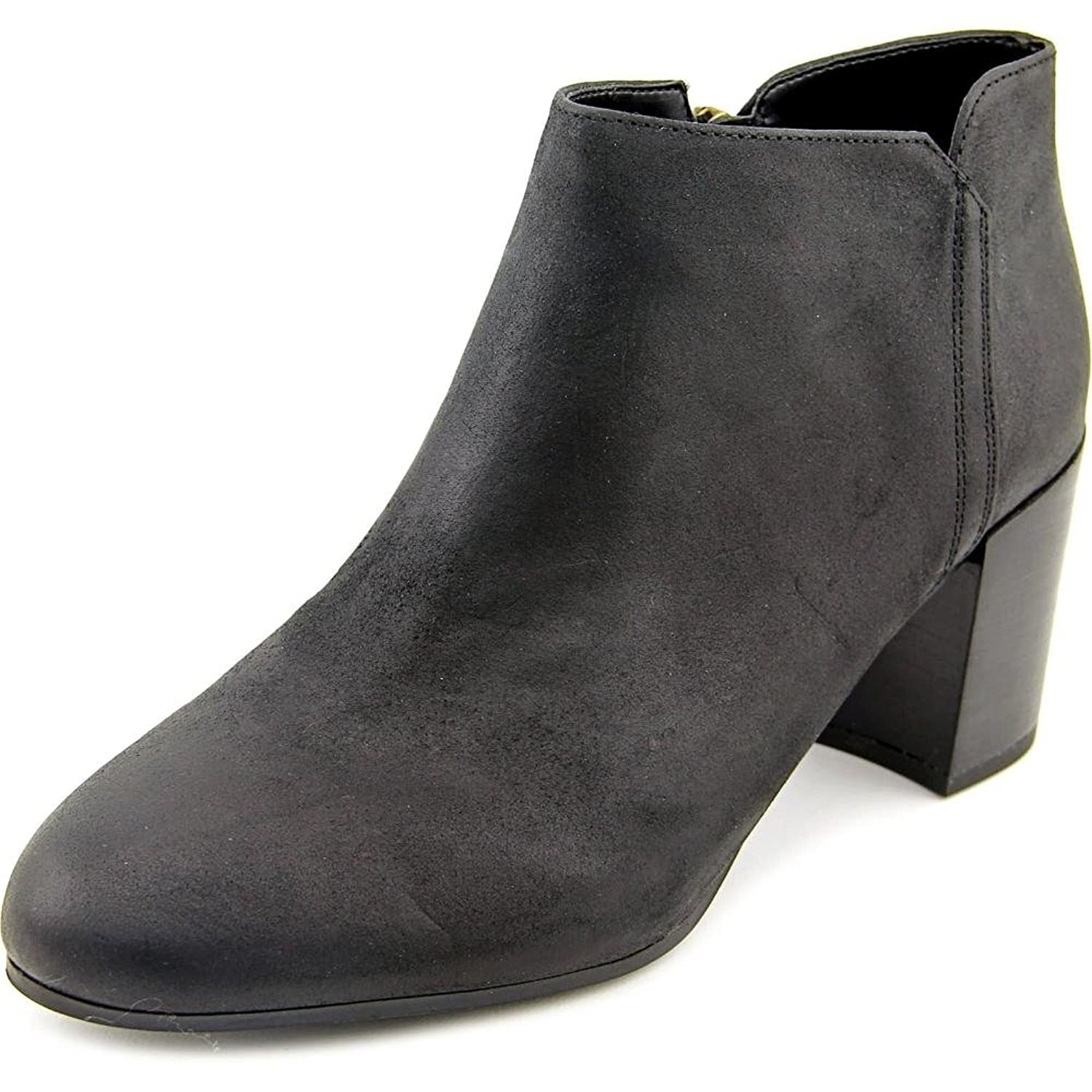 Franco Sarto Narcissa Women Round Toe Leather Black Ankle Boot