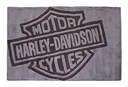 Amazoncom Harley Davidson Bar Shield Large Area Rug Deep Gray