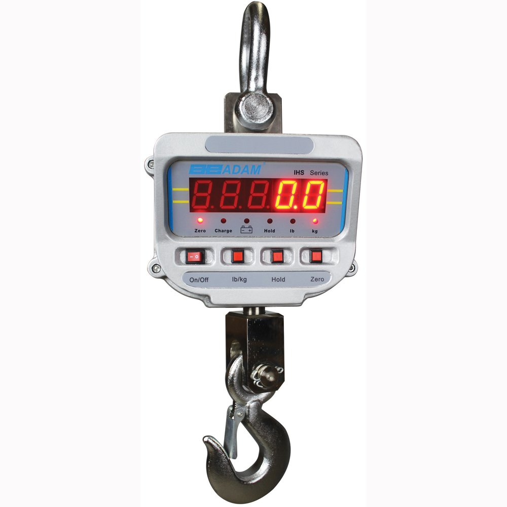 Image of Crane Scales Adam Equipment IHS 20A Battery/Ac Operated Crane Scales; 10000kg x 2kg 120 V
