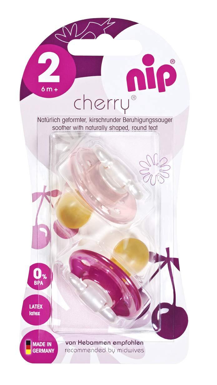 Nip Cherry redondo Aspiradora Girl l/átex doble Pack 4/Colores a partir de 6/meses