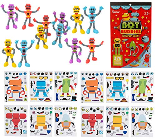 25 Piece Robot Theme Birthday Party Favor Bundle Pack for -