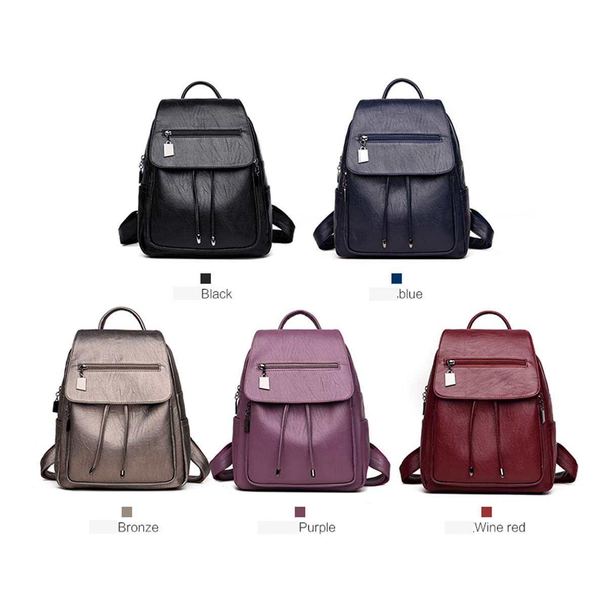 PU Leather ZHICHUANG Girls Multipurpose Backpack for Daily Travel//Outdoor//Travel//School//Work//Fashion//Leisure Retro and Generous for Women /& Men Five Colors