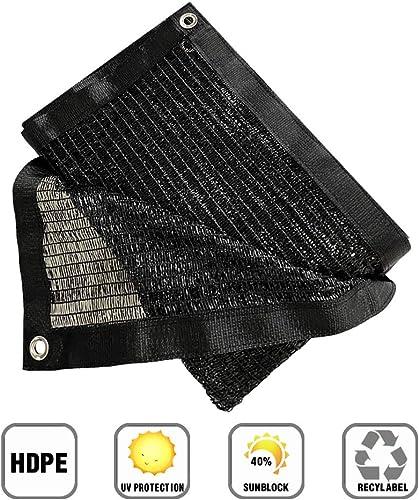 Garden EXPERT 40 10 X 20 Black Shade Cloth Taped Edge with Grommets Sunblock Net Sun Mesh for Patio Garden Backyard
