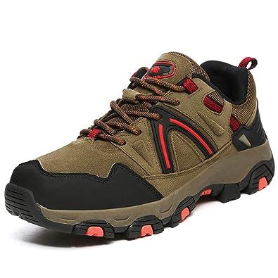 NEOKER Wanderschuhe Trekking Schuhe Herren Damen Sports Outdoor Hiking Sneaker Schwarz 44 ZCekXozoO