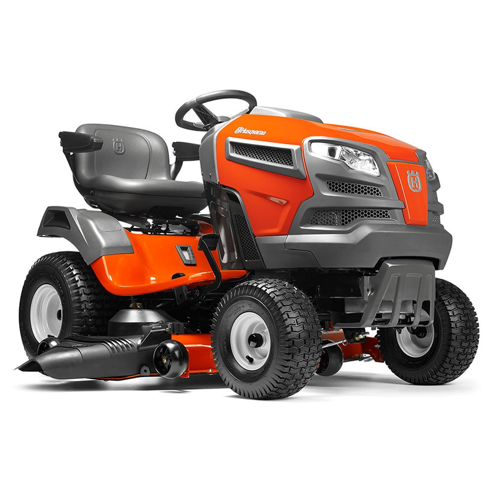Husqvarna YTA24V48 24V Fast Continuously Variable Transmission Pedal Tractor Mower, 48''/Twin