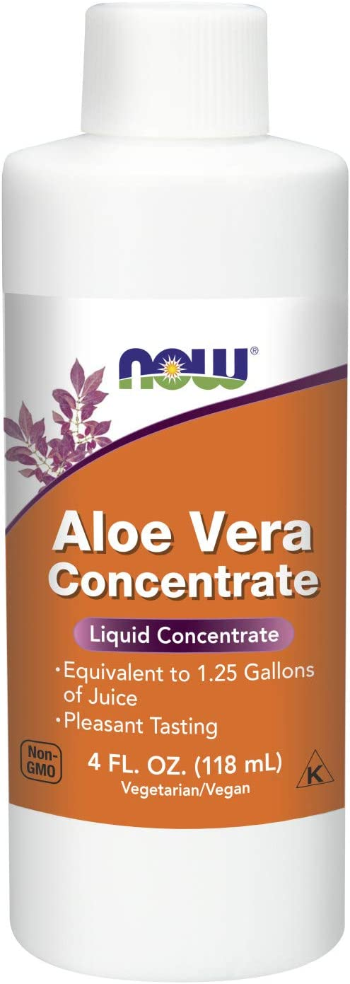 NOW Supplements, Aloe Vera Concentrate (40:1 Concentrate Contains Active Polysaccharides), 4-Ounce