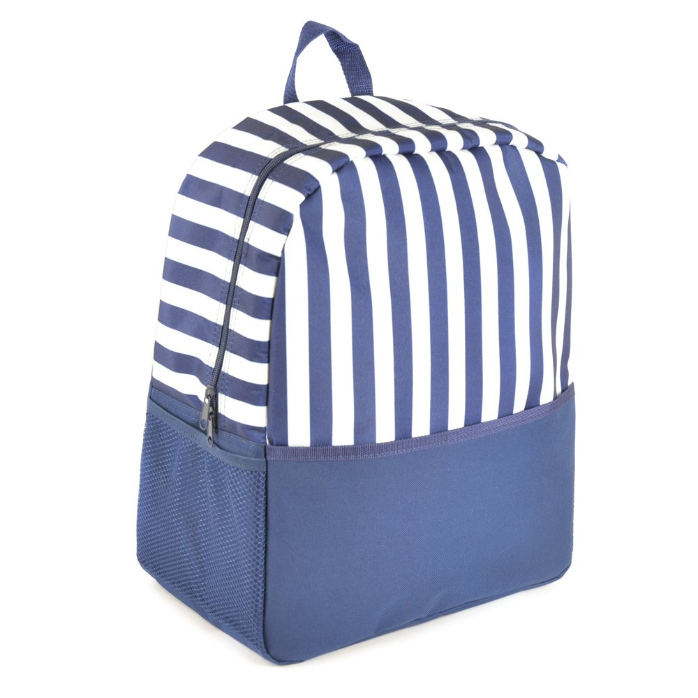 Family Size Picnic Backpack - 600D Polyester Cool Bag With Front & Side Pockets LBAGC-BB0962-Blue