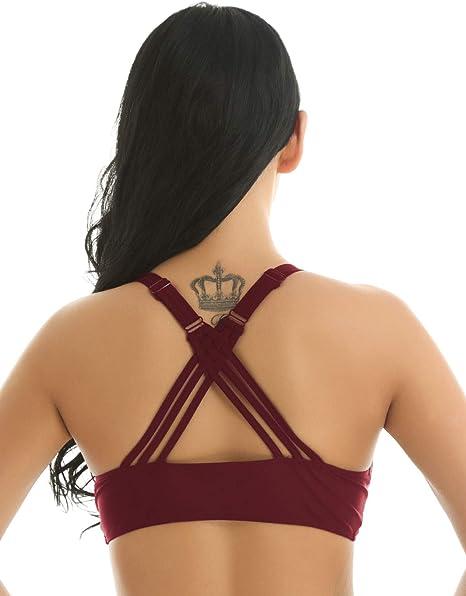 Nudo come descritto harayaa 3 Paia Reggiseno a Triangolo Da Donna Inserti Reggiseni per Costumi Da Bagno Sportivi Yoga