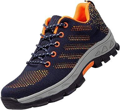 léger respirant chaussures de sécurité embout d/'acier baskets de travail hommes