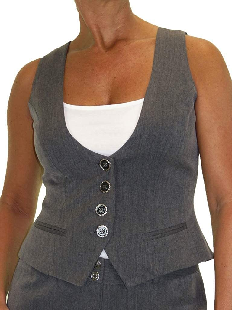 icecoolfashion Ladies Waistcoat Lined Washable Office Day Work Clubbing 6-18