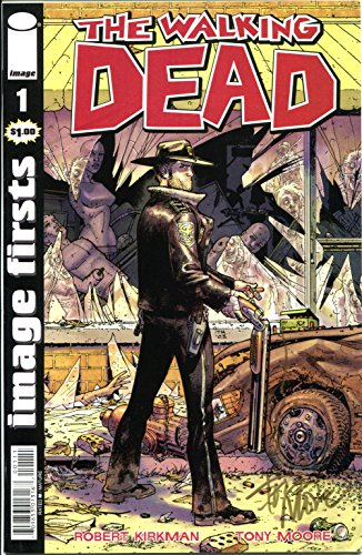 Tony Moore Signed / Autographed Walking Dead #1 comic. Includes Fanexpo Certificate of Authenticity and Proof. GUNSMOKE AROUND THE GUN BY TONY MOORE HIMSELF Entertainment Autograph Original