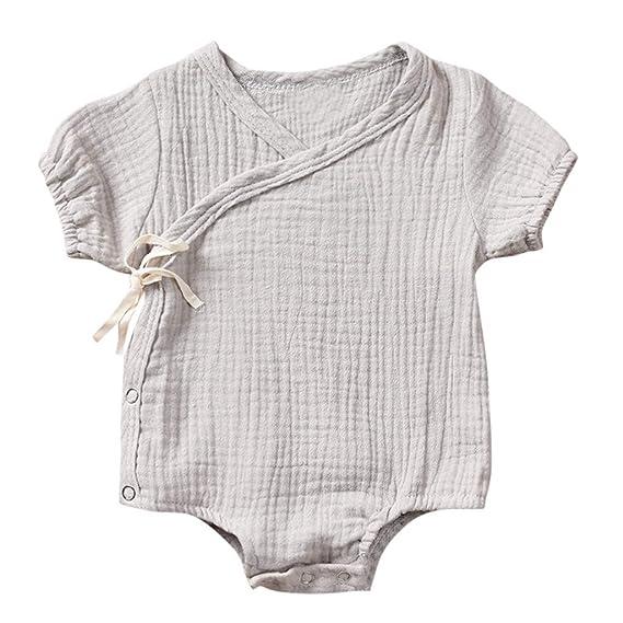 Bodys Manga Corto para Bebes ni/ño Body sin Mangas Recien Nacido Bodies para beb/é ni/ños ni/ñas Pijama Algodon Tops Camiseta Mono