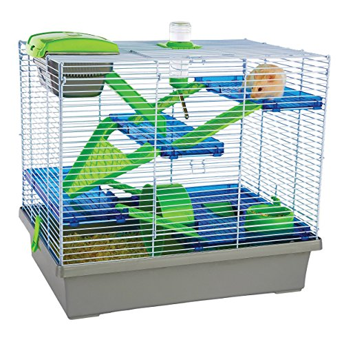 Pico XL Silver & Green - Hamster & Small Animal - Green Hamster Cage