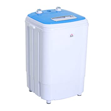 HomCom Top Load Portable Electric Washing Machine   Spin Wash And Dry   Blue