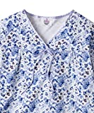 Silverts Disabled Elderly Needs Womens Soft Knit Adaptive Pattern Hospital Gown - Open Back Design for easy caregiver dressing - Regular & Plus Sizes Available - Blue Watercolor Med