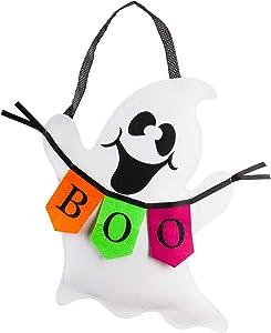 Evergreen Flag Halloween Boo Ghost Door Décor (Boo Ghost Burlap Door Décor)