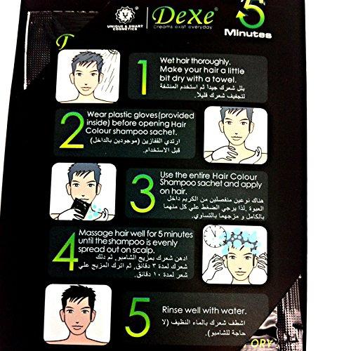 instant hair dye - black shampoo
