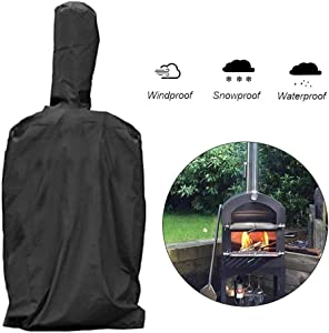 etateta Pizza Oven Cover, Outdoor Garden Patio Waterproof Heavy-Duty Protective Grill Oven Storage Cover Perfect to Protect Against Any Weather Great Gift