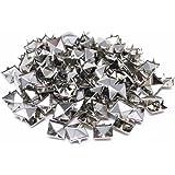Honbay 200pcs 10mm Square DIY Leathercraft Silver Metal Punk Spikes Spots Pyramid Studs Nailheads