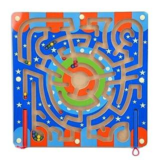 Gobus Labirinto Perline Puzzle educativo Gioco da Tavolo Labirinto interattivo Giocattoli per Bambini (Traccia ad Anello)