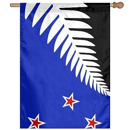 Amazon com: Kuswaq NZ Flag Design Silver Fern Home Garden Flags