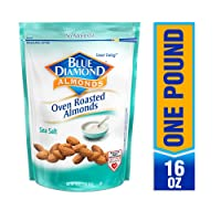 Deals on Blue Diamond Almonds Oven Roasted Sea Salt 16oz