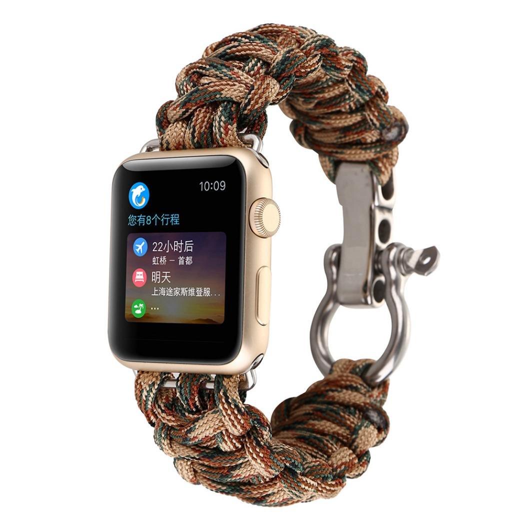 glorrtレザーストラップ交換用時計バンドfor Apple Watch 38 mm  F B07436BN43