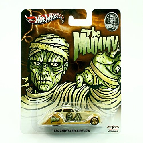 - 1934 CHRYSLER AIRFLOW * THE MUMMY / UNIVERSAL STUDIOS MONSTERS * Hot Wheels 2013 Pop Culture Series 1:64 Scale Die-Cast Vehicle