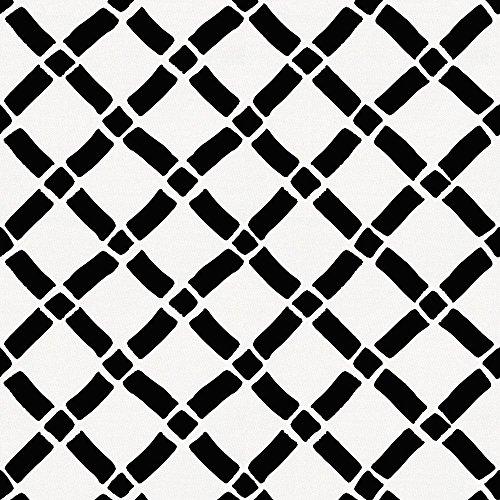 Carousel Designs Onyx Hand Drawn Lattice Fabric by the Yard - Organic 100% Cotton (Lattice Onyx)