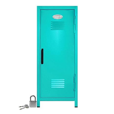 amazon com mini locker with lock and key teal 10 75 tall