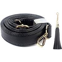 MonkeyJack 2 Pieces 50cm Genuine Leather Shoulder Bag Handbag Strap Handle Bag Accessories for DIY Purse Making Crafts Coffee
