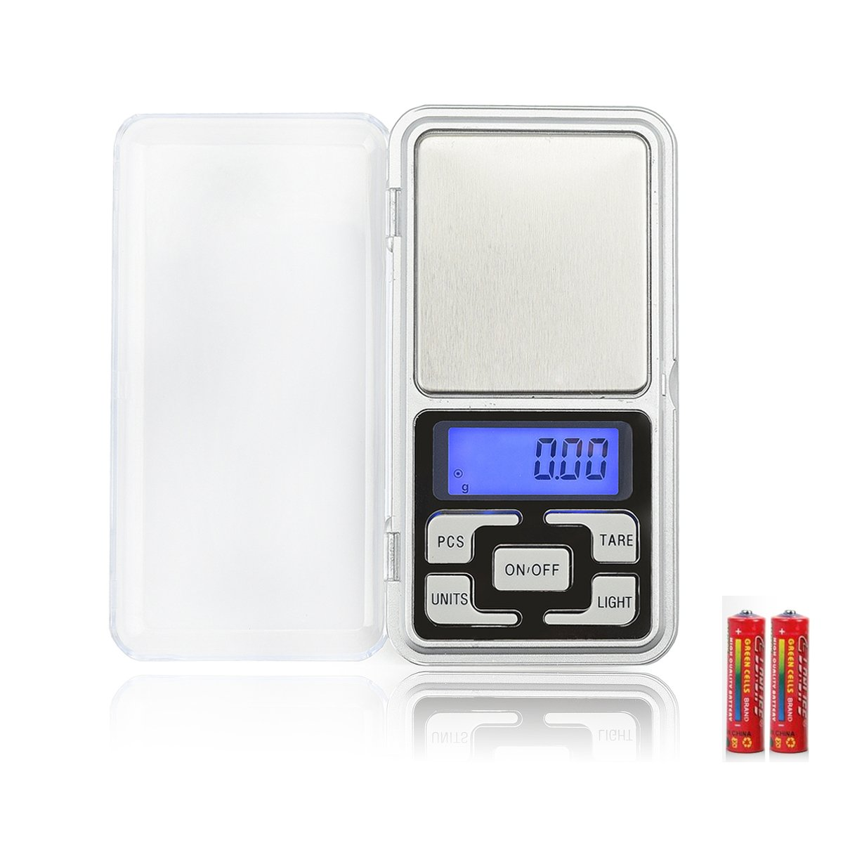 High Accuracy Mini Electronic Digital Pocket Scale Jewelry Diamond Gold Coin Calibration Weighing Balance 0.01-200g Portable 200G/0.01G Counting Function Blue LCD SIMERST