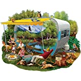 Bits and Pieces - 750 Piece Shaped Jigsaw Puzzle for Adults - Camping Trip - 750 pc Nature, Animals Jigsaw by Artist Thomas Wood