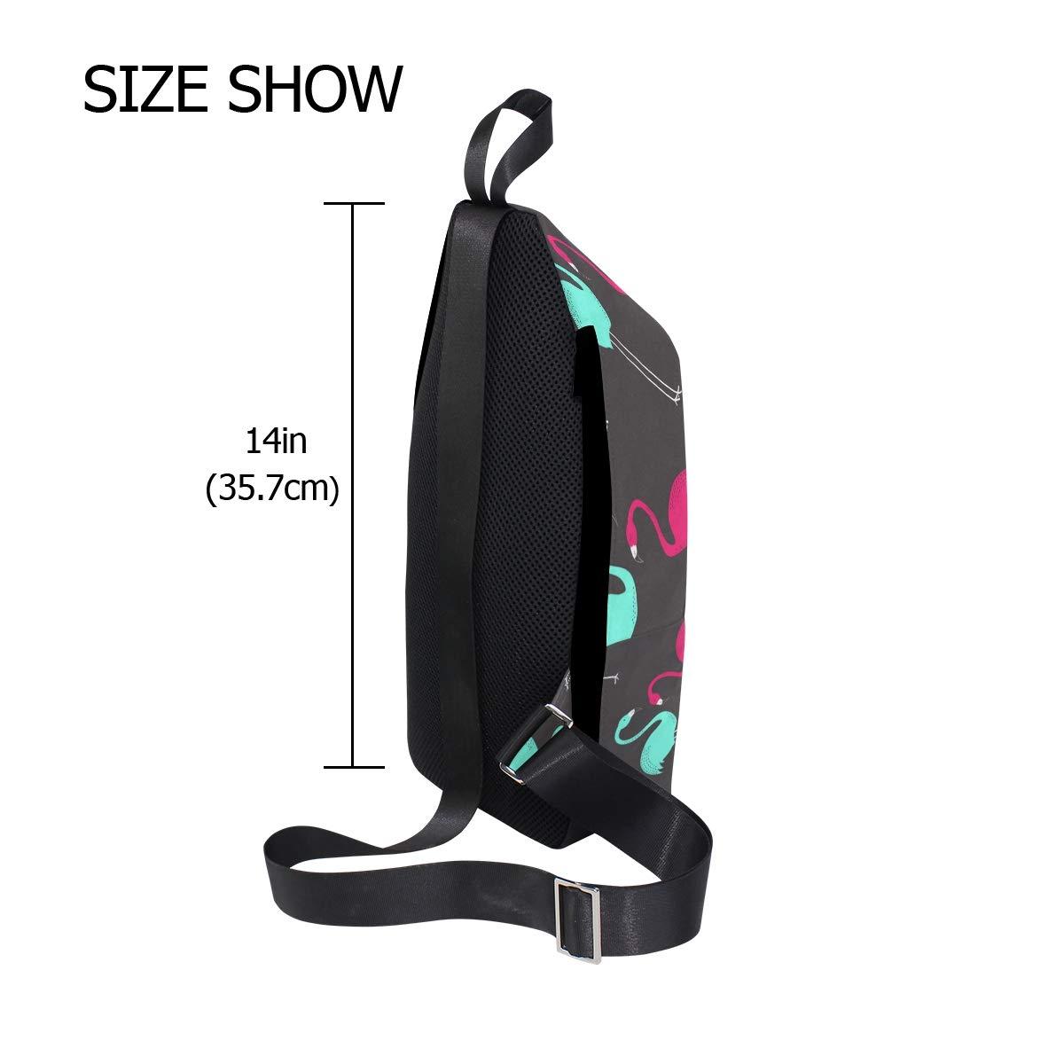 TFONE Cute Flamingo Pattern Crossbody Bag Lightweight Chest Shoulder Messenger Pack Backpack Sling Bag