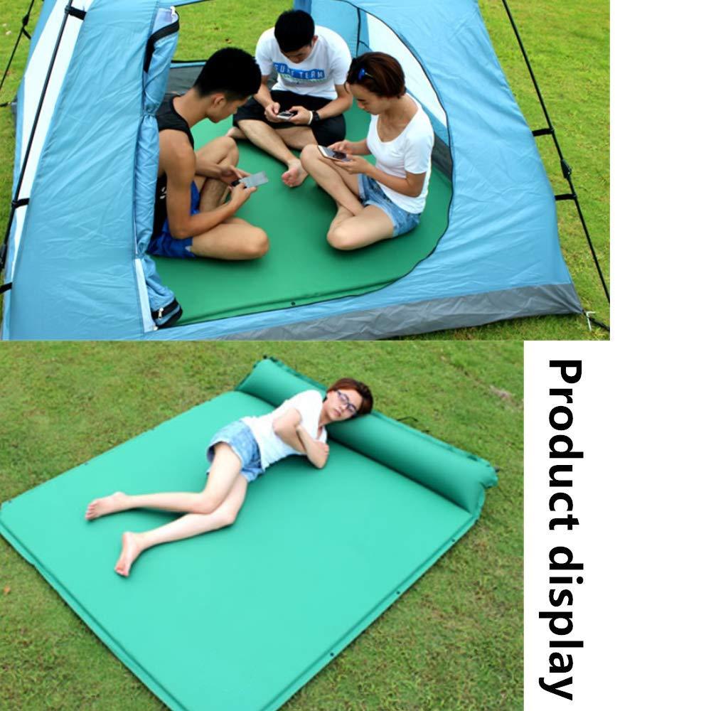 Aufblasbares Doppel-TPU-Kissen Selbstaufblasende Wandermatratze Ultraleichte automatische aufblasbare Strandmatte Isomatte Selbstaufblasende Matratze Ultraleichte Campingmatratze mit Kissen 195*140cm