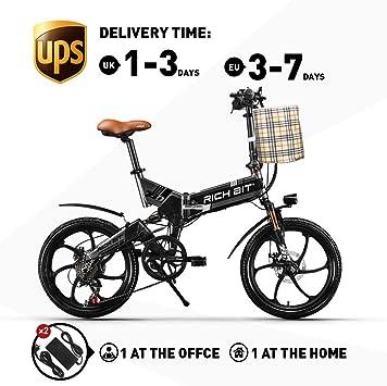 RICH BIT ZDC RT-730 Bicicleta eléctrica Plegable de 20 Pulgadas ...